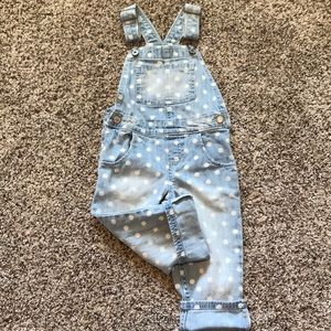 Polka dot overalls